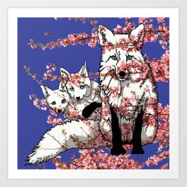 Spring Fox Art Print