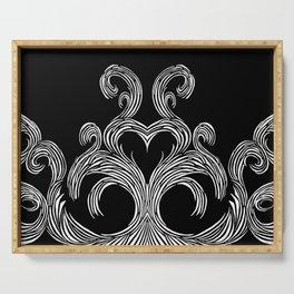 Swirls & Heart Serving Tray