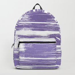 Modern abstract lilac lavender white watercolor brushstrokes Backpack