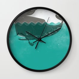 Belly of the Whale - Hipster Edition (with pirates) Wall Clock