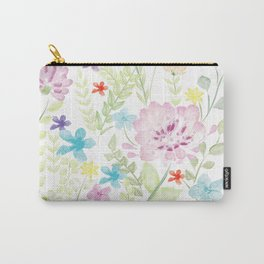 Mixed Wild Flower Carry-All Pouch