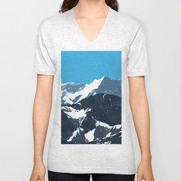 swiss mountains Unisex V-Neck