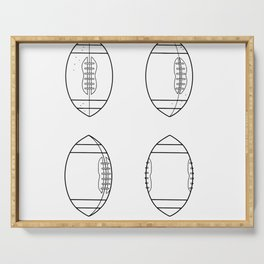 American Football Ball Spinning Sequence Drawing Serving Tray