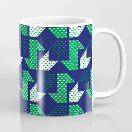 Clover&Nessie Denim/Spinach Coffee Mug