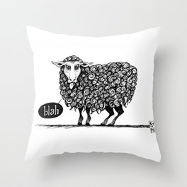 Blah! Throw Pillow
