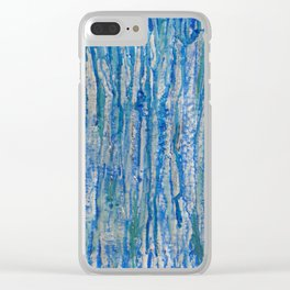 Encaustic Streaks (blue) Clear iPhone Case