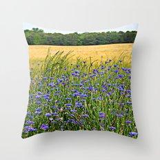 Field of Blue Throw Pillow