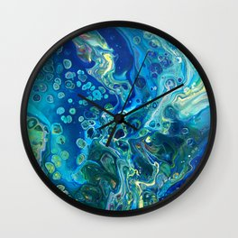 Fluid Nature - Marine Odyssey - Abstract Acrylic Art Wall Clock