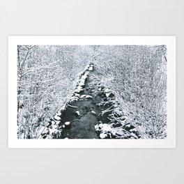 Snowfall at Brickworks on Christmas Day, 2020. LXXI Art Print
