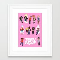 teen wolf Framed Art Prints featuring Teen Wolf! by Madeoftin