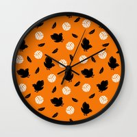haikyuu Wall Clocks featuring Volley Crows! by paraply