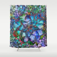 succulent Shower Curtains featuring Succulent by Klara Acel