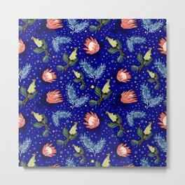 Australian Native Floral Pattern - Bright and Cute Metal Print