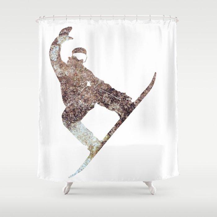 Snowboarder Shower Curtain