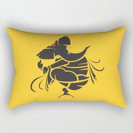 Lord Ganesha Mool Mantra Rectangular Pillow