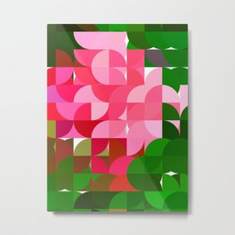 Pink Roses in Anzures 2 Abstract Circles 1 Metal Print
