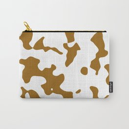 Large Spots - White and Golden Brown Carry-All Pouch