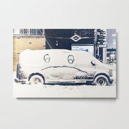 Snowy Mad Truck Metal Print