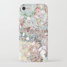 Orlando map landscape iPhone Case