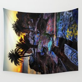Ghetto by the Sea Wall Tapestry