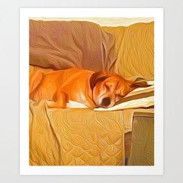 Lucy Sleeping East Art Print