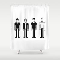 blur Shower Curtains featuring Blur by Band Land