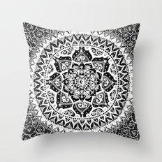 Yin Yang Mandala Pattern Throw Pillow