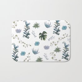Indoor plant pattern Bath Mat
