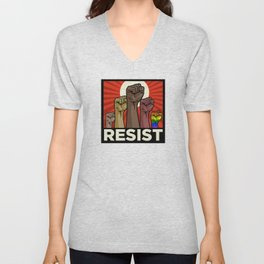 "Official ""RESIST"" Fists Unisex V-Neck"