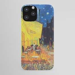 Vincent Van Gogh - Cafe Terrace at Night (new color edit) iPhone Case