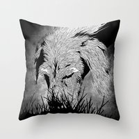 the hound Throw Pillows featuring Hound by hardy mayes