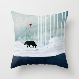 WOLF - A Love Always Carried  Throw Pillow