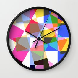 geometric sparkling colors. Wall Clock