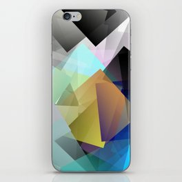 Holographic mountains in Silicon Valley. iPhone Skin