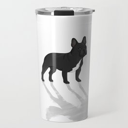 Wild At Heart - Black French Bulldog Travel Mug
