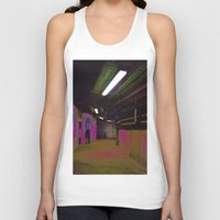 holographic Tank Tops featuring Basement 2 by Ieva Samsina