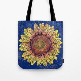 Swirly Sunflower Tote Bag