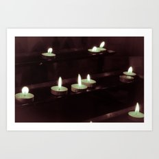 split toning candels Art Print