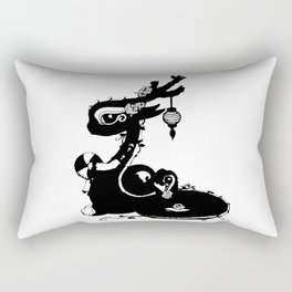 Dragons and Roses Rectangular Pillow