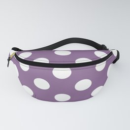 Pomp and Power - violet - White Polka Dots - Pois Pattern Fanny Pack