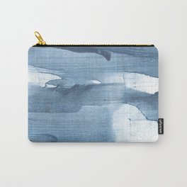 Gray Blue streaked wash drawing painting Carry-All Pouch