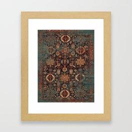 Vintage Traditional Moroccan Rug Framed Art Print