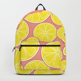 Pink Lemonade Citrus Lemon Slices Backpack