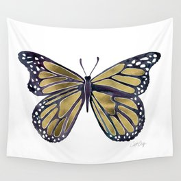 Gold Butterfly Wall Tapestry