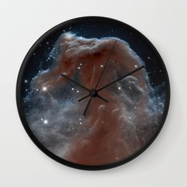 illuminated reins of the nebulous horse | space #11 Wall Clock
