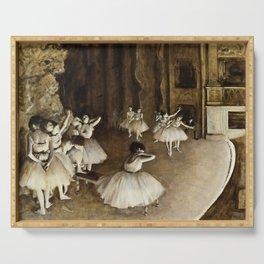 Edgar Degas - Ballet Rehearsal On Stage Serving Tray