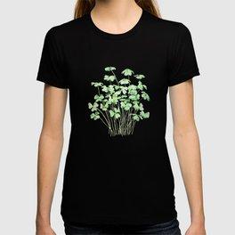 green clover leaf  watercolor arts 2021 T-shirt