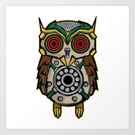Owl Lover? A Perfect Owls Tee For You Made of Tools Owlet T-shirt Design Nocturnal Night Birdline Art Print