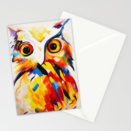 Owl in Sunset Stationery Cards
