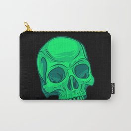 Skull - Green Carry-All Pouch